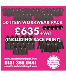 50 Item Workwear Pack Including Back print
