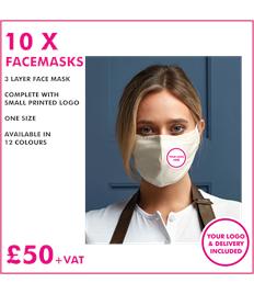 10 x Premier Facemasks