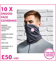 10 x Face Coverings/Snoods