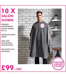 10x Premier waterproof salon gown