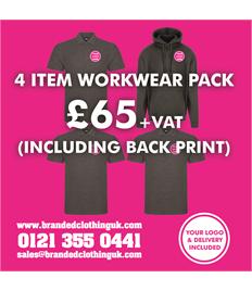 4 Item Workwear Pack Including Back Print