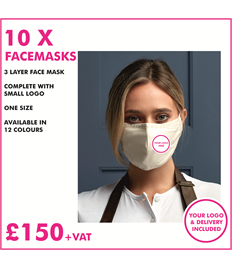 10 X Healthcare face mask