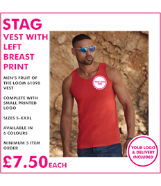 Stag vest with left breast