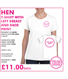 Hen T-shirt with left breast and back print