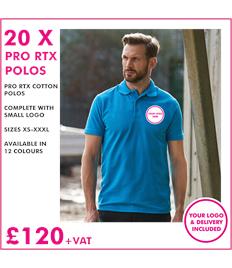 20 X PRO RTX Polo Shirts