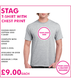 Stag T-shirt with chest print