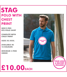 Stag Polo with chest print