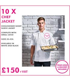 10 x Premier Chef Jacket