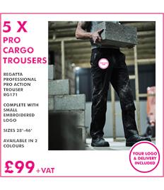 5 X Regatta Cargo Trouser