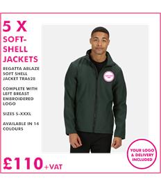 5 x Regatta Soft Shell Jackets