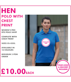 Hen polo with chest print