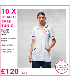 10 x Premier Healthcare tunics