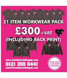 21 Item Workwear Pack Including Back Print
