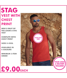 Stag vest with chest print