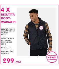 4 X Regatta Insulated Body Warmers