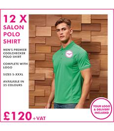12 x Men's Premier salon polo